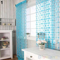 Wholesale Cute Heart Line Tassel String Door Curtain Window Room Divider Curtain Valance Home T YY