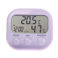 Wholesale New Hot Indoor Large Screen Digital Thermometer Humidity Hygrometer Meter Date Clock