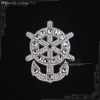 t-shirt heat transfer - Anchor Design Hot Fix Rhinestones Motifs Iron On Heat Transfer Applique Strass Crystal Stone Patch For T Shirt Pant Clothing