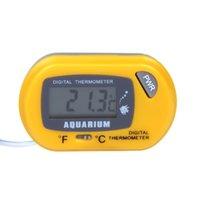 Wholesale LCD Digital Fish Tank Aquarium Thermometer Temperature Water Terrarium Yellow H10247