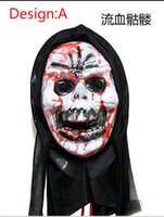 horror - Halloween Horror Mask Party Activities Toy Tricky Horror white witch centiped red face masks full face mask