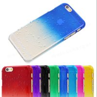 Wholesale Crystal Gradient Rain Drop Hard PC Back Case Cover Raindrop for iphone S S C plus inch samsung galaxy S3 S4 S5 Note