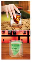 Wholesale Halloween Clear glass skull cups Vodka Shot Glass Pirate Vaccum Glasses Beer Cups best Drinking Ware
