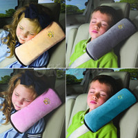 Wholesale 1 X Colorful New Design Toddler Children Car Seat Belt Cushion Sleep Pillow Safety Shoulder Pad Cover