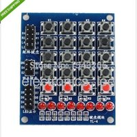 arduino push button led - High Quality LED x4 Push Buttons Matrix Key Switch Keyboard FOR Arduino AVR ARM STM32 order lt no tracking