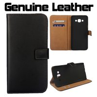 a8000 - For Galaxy A8 Genuine Real Wallet Leather Case Luxury Black Flip ID Credit Card Slot Stand Cover For Samsung A8000