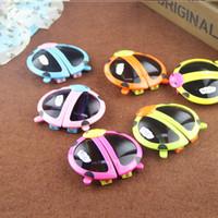 babies wearing glasses - Hot Sale Cartoon Animal Shaped Children s Folding Sunglasses Glasses Baby Ladybird Beetles Eye Wear