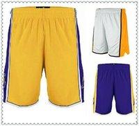 basketball laker - BYRANT Laker Basketball Man Shorts Authentic Golden Purple Black White Basketball Shorts New REV Running Mans Shorts