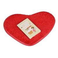 Wholesale Top Quality cm Heart Shaped Non slip Carpet Bath Mats Kitchen Living Room Bedroom Coral Fleece Mattress Rugs S18