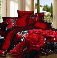 Cheap Fashion classic brand 3D Bedding 4pcs pure cotton satin bedding set  comforter set  duvet cover set  bed sheet