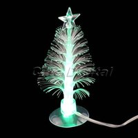 Cheap Wholesale-Hot! USB Port Charming Romantic Changing Color Decoration Light LED Multi Color Christmas Tree Light Lamp with Sucker Gift