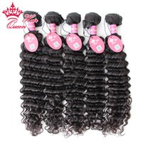 "Brazilian Virgin Hair Deep Curly Wave Natural Color #1B 100% Brazilian Deep Curly Wave Hair 5pcs lot DHL Free Shipping 100% Human Hair 12""-28"" in stock Can Be Dyed and Bleach"