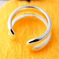adjustable thumb ring - Line Thumb Ring Adjustable Ladies Unusual Gift For Her Mum JW1302