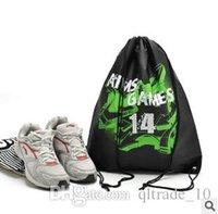 drawstring shoe bag - 3 colors sizes Mesh drawstring bags for shoes Clothes Storage bag organizer Travel package household shopping bag LJJC350