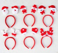 animal headgear - New Chrismas Santa Claus hairpin Xmas Hairband Santa Clause Headband Headgear Kids Adults Christmas Party Dress Up Gift