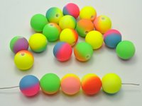 16mm - 30 Multi Color Neon Beads Acrylic Round Beads mm