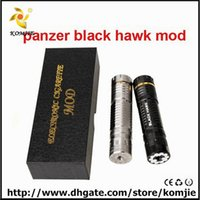 Cheap Panzer Mech Mod Clone 26650 black hawk panzer mod vs nemesis mod copper ecig panzer glass mechanical mod panzer blackhawk mods for atomizer