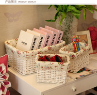Wholesale 100 natural rattan willow weave basket storage basket for home storage orgnization company for files storage