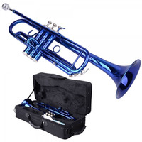 Wholesale Brand New Brass B Trumpet Blue with Case Gloves for from US US