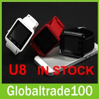 android windows mobile - Wireless Bluetooth WristWatch Sync Altimeter Anti lost Call U8 Smart Watch For Smartphones iPhone Android Samsung Mobile Phones