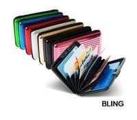 aluma wallet free shipping - New Hot Sale Aluminum Aluma Wallets Credit Card Holders Free CN Post Shipping OPP Bag Pkg Only