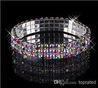 Other alloy bracelet - 2015 New Girl Bracelet End oF Year Clearance Sale Row Rhinestone Stretch Bangle Bracelet Wedding Party Bridal Jewelry Cheap