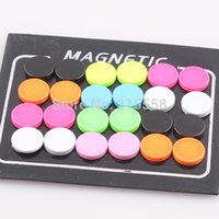 Wholesale 2015 New Hiphop Style Unisex Fluorescent Neon Color Ear Jewelry mm Magnetic Earrings Magnet Ear Stud O109
