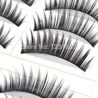Wholesale 10 Pairs Natural False Eyelashes Make Up False Lashes Handmade Fake Eyelash Hot Drop Shipping