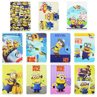acer tablet - Universal Adjustable Despicable ME Minions Flip PU Leather Stand Case Cover For inch Tablet MID Samsung Tab P3200 T230 ACER ASUS
