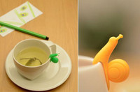 Taza de té Infusers Colador Videos Party Decor Novedad color al azar lindo Caracol Forma Titular de silicona bolsa de té envío libre de DHL 60161