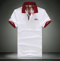 Wholesale Mens Solid Polo Shirt Barnds Polo Ralp Men Shirts Short Sleeve Cotton Camisa Polo Masculina Homme Fashion Polos Hombre
