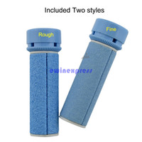 Wholesale 2 X Rough Professional Velvet Smooth Express Pedi Electronic Foot File Foot Massager Roller Electric Pedicure for Foot Care Remover