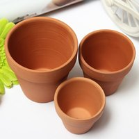 Wholesale Sizes Red Clay Pot Meaty Plant flowers Grow Ceramic Flower Pot With Holes