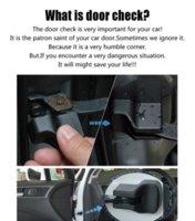car parts - 4Pcs Set Car stylng Door check cover For Volkswagen Golf Bora Polo Modified car parts For Lavida Tiguan Touareg Jetta Passat M5357