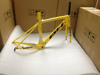 bh - Yellow BH G6 carbon road bike frame matte or glossy bicycle carbon frame road size XS S M Lcm carbon frameset carbon handlebar saddle wheels