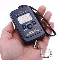 20g-40Kg Peso de la escala digital de la cocina de pesca que cuelga de equipaje de bolsillo herramientas escalas de cocina escala portable electrónica del peso de balance Negro