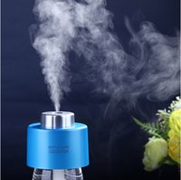 air filter cap - USB Portable ABS Water Bottle Cap Mini Humidifier DC V Office Air Diffuser Aroma Mist Maker Absorbent Filter Sticks