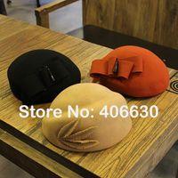 paypal free shipping - winter new wool felt beret hats for girls chapeau feminino women beret caps accpet paypal