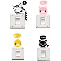 best pet stickers - 2015 New arrival Hot sale best quality NEW Cat Nap Pet Light Switch Funny Wall Decal Vinyl Stickers ZH219