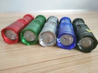 Wholesale CREE XM L Q5 Lumens led Torch light Zoomable mini LED Flashlight Torch Portable Lighting Flashlights Colors