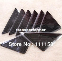 Wholesale 1000 DHL RUGGIES Rug Grippers Stick Triangle Anti Slip PU Mats Powerful Silica Gel Strong Magic Pad for Rug