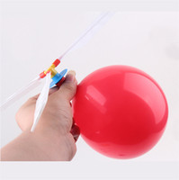 Bubble balloon helicopter toys - Novelty Item Balloon Helicopter Inflatable Balloon Toy Children Toy Self combined Balloon Kids Toys by fedex dhl