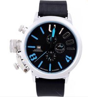 big face watches men - Luxury Swiss Brand Big Face U1001 U Date Mens Mechanical Watch Silver Stainless Rubber Men Automatic Wristwatch Lowest Price