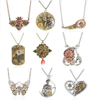 wholesale vintage jewelry - 2015 the latest design of vintage steampunk vintage gear pendant necklace jewelry Jewelry Accessories for men and women shpping DHL a881