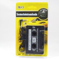 Wholesale 3 mm Universal Car Audio Cassette tape Adapter Audio Stereo for MP3 Player Phone