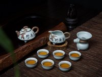 Wholesale Porcelain Set Tea With Teapot Set Teacups Chinese Style Gift Box Packing Drinkware