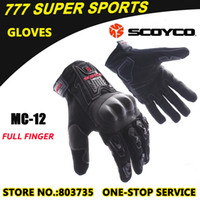 best motorbike gloves - Hot Sales Motorcycle Gloves Full Finger Guantes Best To Protect Knuckle Sports Motorbike Glove Scoyco MC12