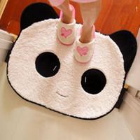 Wholesale Pernycess Smiley cartoon panda plush skid bedroom doormat thick plush carpet mats