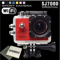 Wholesale 2 inch display screen Full HD P Action Camera SJ7000 WiFi Waterproof Sport camcorder M Sport Cam Helmet Camera Mini DV Car DVR