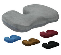 Wholesale Coccyx Orthopedic Memory Foam Seat Cushion for Chair Car Office home bottom seats Massage cushion